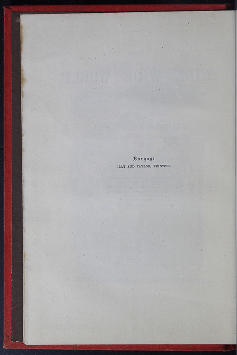 """Colophon for the 1879 James Nisbet & Co. """"Golden Ladder Series"""" Reprint"""