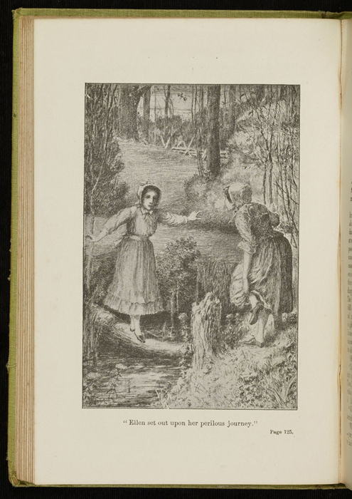 Illustration on Page 124a of the 1896 Hodder and Stoughton Reprint Depicting Ellen and Nancy at the Brook