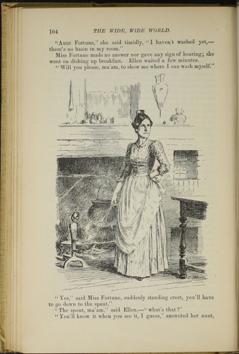 "Illustration on Page 104 of the 1892 J. B. Lippincott Co. ""New Edition"" Reprint Depicting Aunt Fortune"