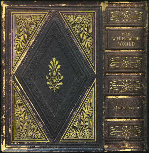 """Back Cover of Volume 1 of the 1853 G.P. Putnam & Co. """"Illustrated Edition"""" Reprint"""