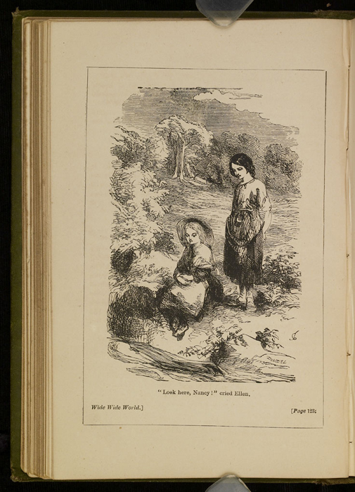 """Illustration on Page 122b of the [1885] Ward, Lock & Co. """"Home Treasure Library, Complete Edition"""" Reprint Depicting Nancy Finding Ellen at the Brook"""