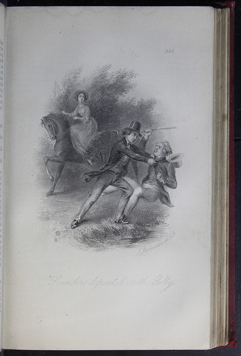 Illustration on Page 362a of the G. Bell 1889 Reprint Depicting Saunders Deposited in the Gully