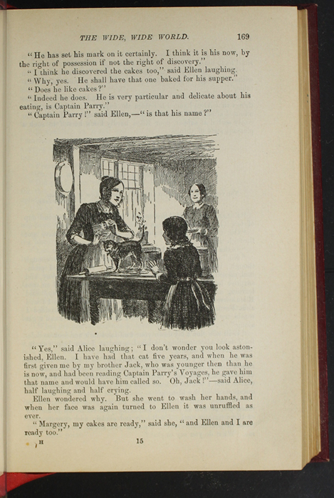 """Illustration on Page 169 of the 1903 J. B. Lippincott Co. """"New Edition"""" Reprint Depicting Alice and Ellen Making Cakes"""