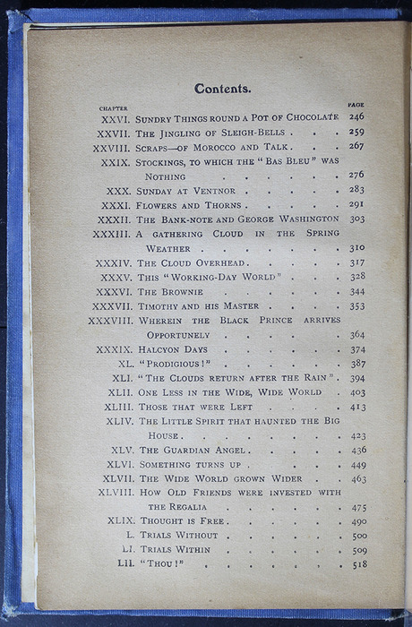"Second Page of the Table of Contents for the [1910] Collins' Clear-Type Press ""The Challenge Series"" Reprint"