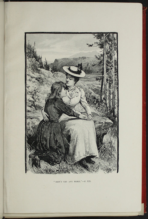 Illustration on Page 120a of the [1896] Walter Scott, Ltd. Reprint, Depicting Ellen and Alice on the Cat's Back