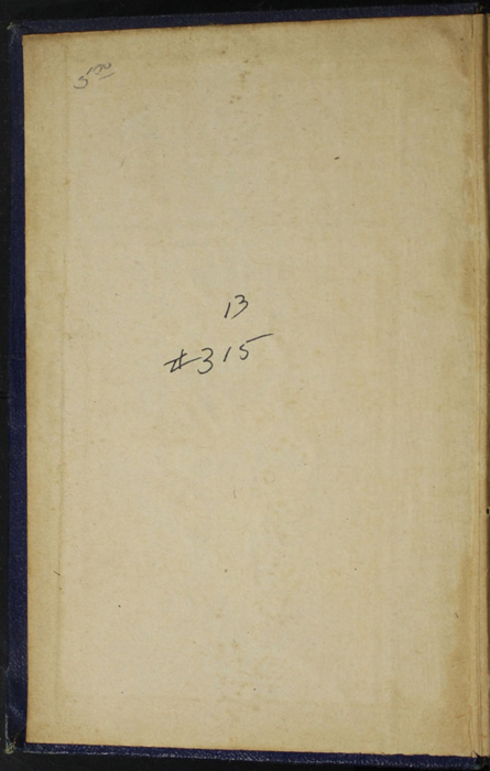 Front Pastedown of the [1887] W. Nicholson & Sons, Ltd. Reprint