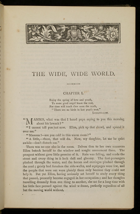 First Page of Text in the [1885] Ward, Lock &amp; Co. &quot;Home Treasure Library Complete ed.&quot; Reprint, Version 1<br /><br />