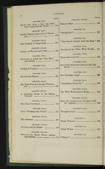 "Second Page of the Table of Contents for the 1853 Eli Charles Eginton & Co. ""Pocket Library"" Reprint"