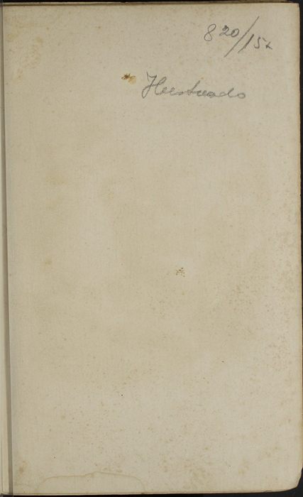 Recto of Frontispiece to the 1853 H. G. Bohn Reprint, Version 1