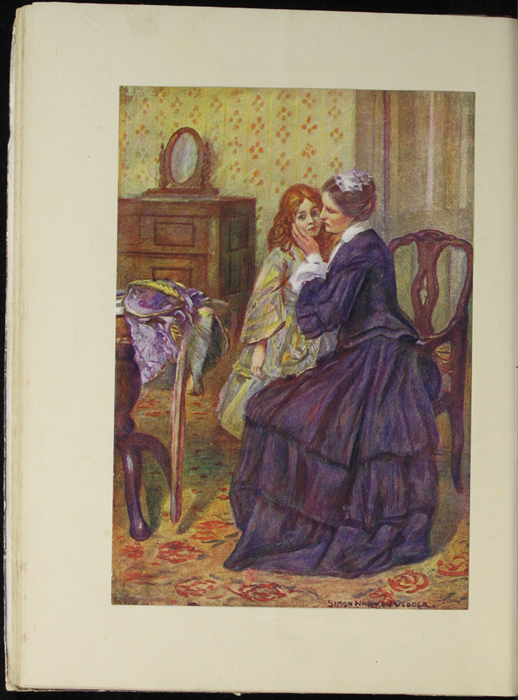 Full-Color Plate on Page 32b of the [1918] Thomas Nelson & Sons, Ltd. Abridged Reprint Depicting Alice Comforting Ellen After the Loss of Her Letter