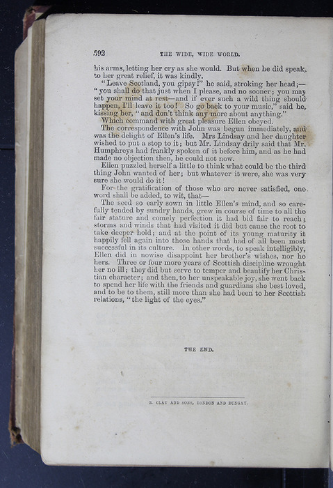 """Last Page of Text in the 1886 James Nisbet & Co. """"New Edition"""" Reprint"""