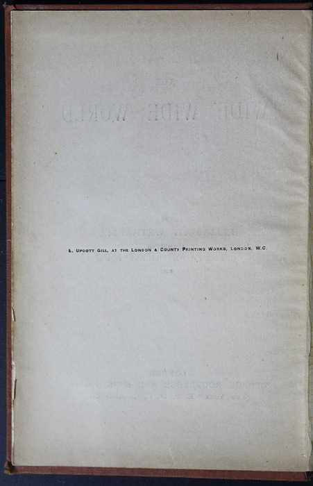 """Colophon for the [1899] George Routledge & Sons Ltd. """"Ruby Series"""" Reprint, Version 2"""