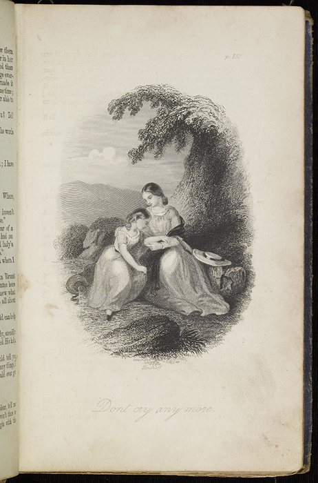 Illustration on Page 132a of the 1853 H. G. Bohn Reprint, Version 2 Depicting Alice Finding Ellen on the Cat's Back