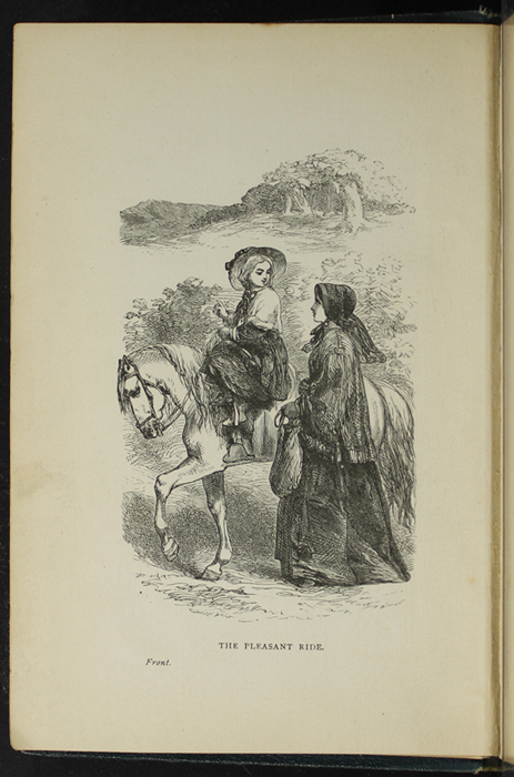 Frontispiece to the [1893] James Nisbet & Co. Reprint,  Depicting Ellen Riding Sharp