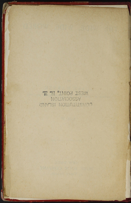 Verso of Title Page to Volume 2 of the [1902] Home Book Co. Reprint, Version 1