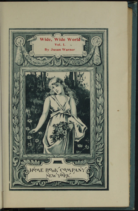 Title Page Vignette to Volume 1 of the [1902] Home Book Co. Reprint Depicting a Woman Gathering Flowers