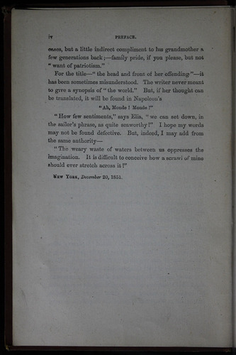 "Page iv of the Preface to the 1883 James Nisbet & Co. ""New Edition"" Reprint"