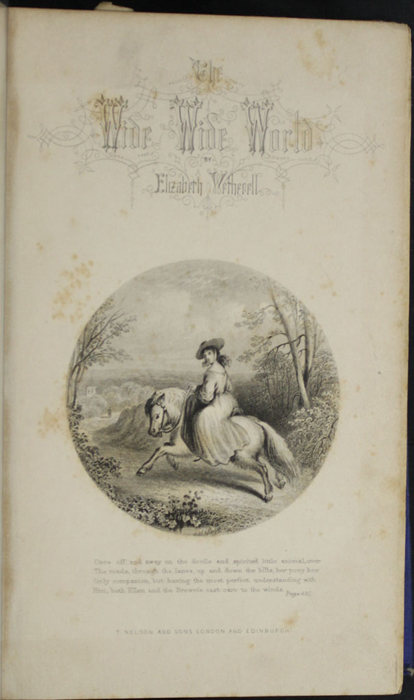 Title Page Vignette to the 1852 T. Nelson & Sons Reprint, Version 2 Depicting Ellen Riding the Brownie