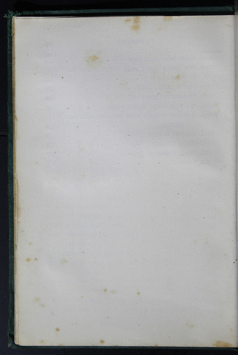 """Verso of Third Page of Table of Contents of the [1884] Frederick Warne & Co. """"Star Series"""" Reprint"""