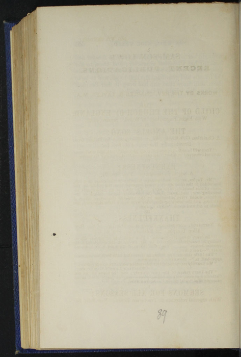 Verso of Colophon on Last Page of Text in Volume 2 of the 1852 Sampson Low Reprint<br /><br />