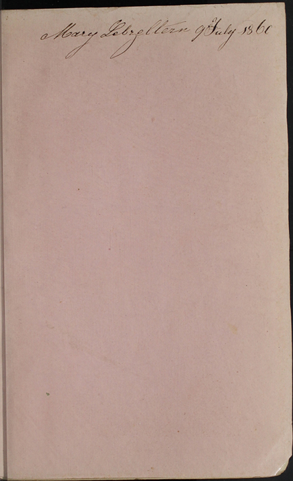 Recto of Front Flyleaf of the 1853 H. G. Bohn Reprint, Version 1