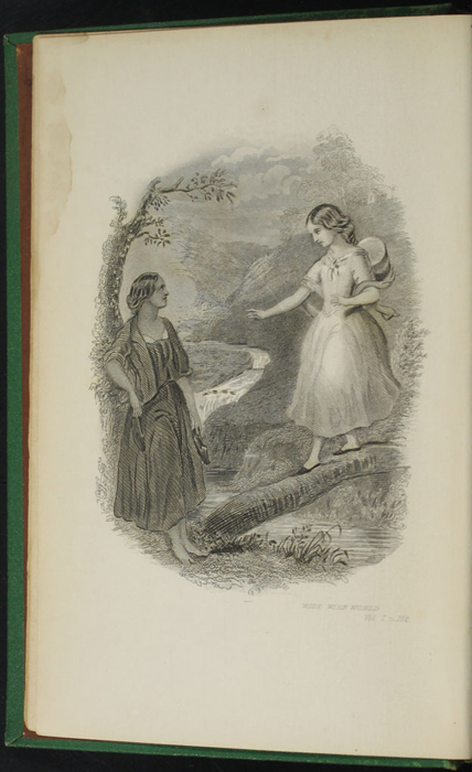 "Frontispiece of the 1880 J.B. Lippincott & Co. ""New Edition"" Reprint Depicting Ellen and Nancy at the Brook"
