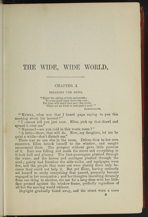 First Page of Text in [1891] James Nisbet & Co. Reprint