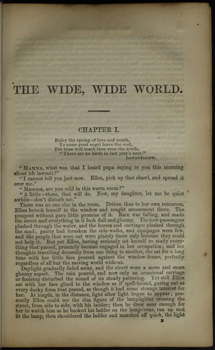First Page of Text in the [1853] Clarke, Beeton, & Co. Reprint, Version 1
