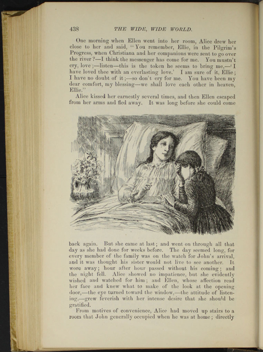 "Illustration on Page 438 of the 1892 J.B. Lippincott Co. ""New Edition"" Reprint Depicting Ellen Mourning at Alice's Deathbed"
