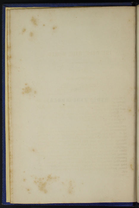 "Verso of the Third Page of the Table of Contents for Volume 1 of the 1852 James Nisbet, Sampson Low, Hamilton, Adams & Co. ""Second Edition"" Reprint"
