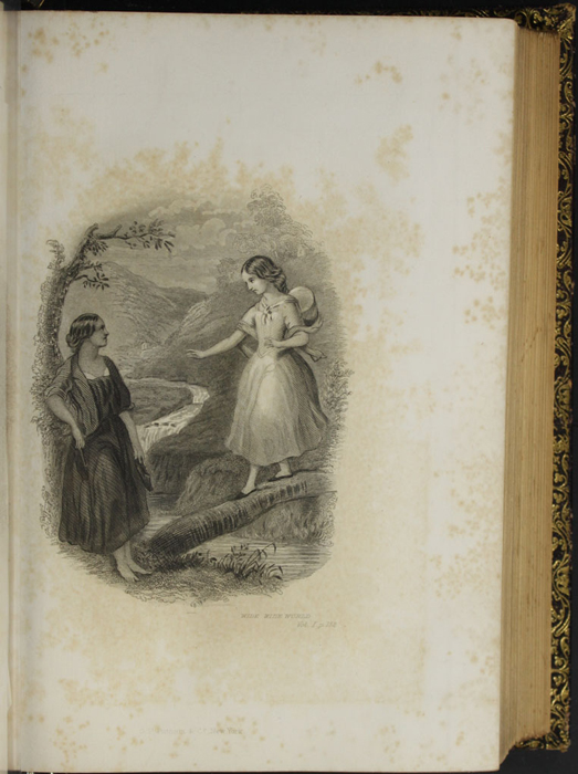"Illustration on Page 152d of Volume 1 of the 1853 G.P. Putnam & Co. ""Illustrated Edition"" Reprint Depicting Ellen and Nancy at the Brook"