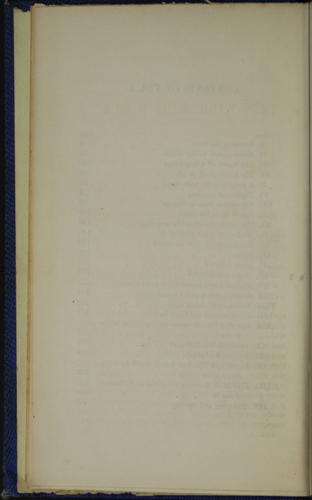 Verso of the Table of Contents for Volume 1 of the 1852 Sampson Low Reprint