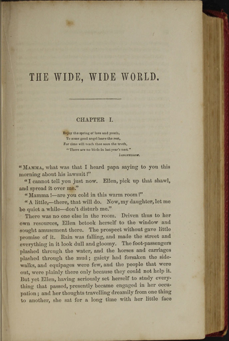 First Page of Text in the 1852 T. Nelson & Sons Reprint, Version 1