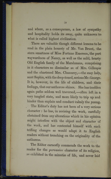 Page iv of the Preface to Volume 1 of the 1852 Sampson Low Reprint