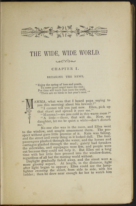 First Page of Text in the [1887] W. Nicholson & Sons Reprint, Version 1