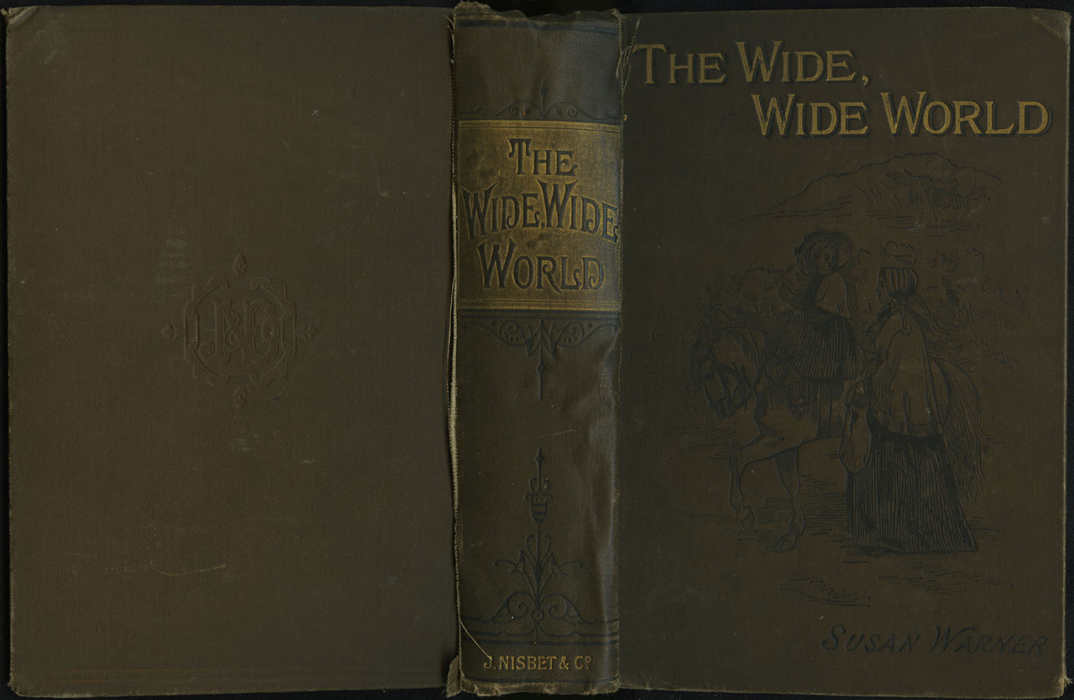 """Full Cover of the [1891] James Nisbet & Co. """"New Edition"""" Reprint Depicting Ellen Riding Sharp"""