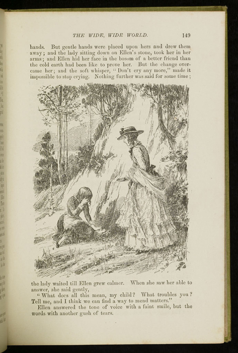 Illustration on Page 149 of the 1896 Hodder and Stoughton Reprint, Depicting Alice Finding Ellen on the Cat's Back