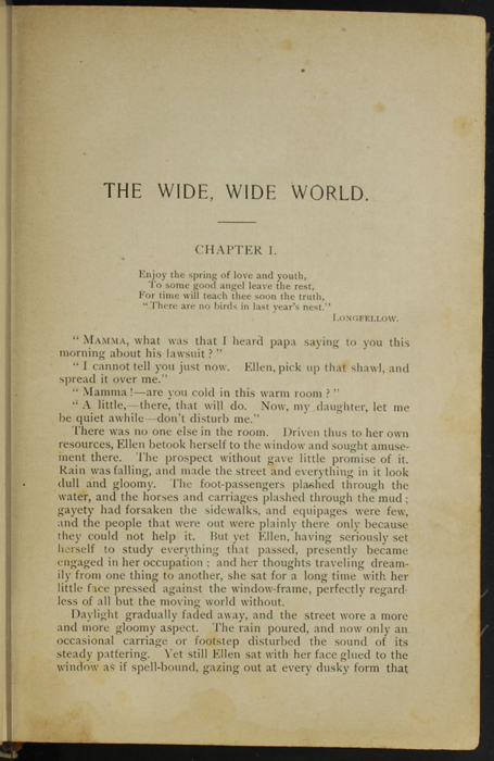 "First Page of Text in the [1894] William L. Allison Co. ""Allison's Standard Library"" Reprint"
