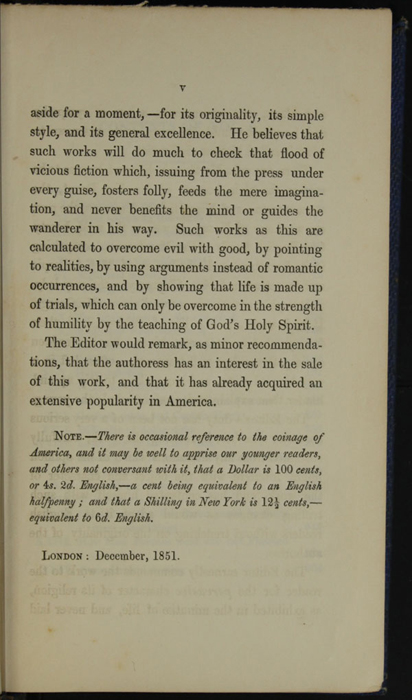 Page v of the Preface to Volume 1 of the 1852 Sampson Low Reprint