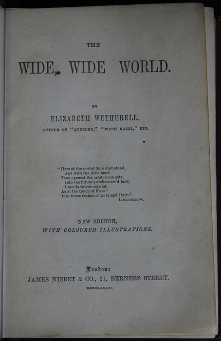 "Title Page of the 1883 James Nisbet & Co. ""New Edition"" Reprint"