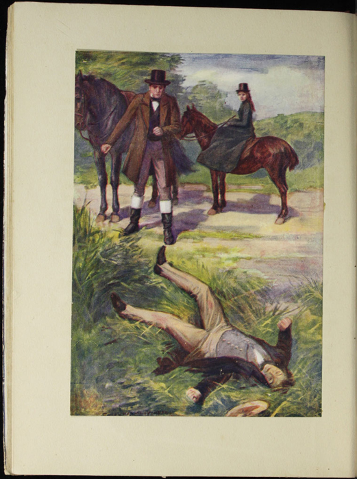 Full-Color Plate on Page 52b of the [1918] Thomas Nelson & Sons, Ltd. Abridged Reprint Depicting the Horse Whipping Scene