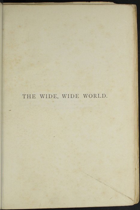 Half Title Page to the [1897] Bliss, Sands & Co. Reprint