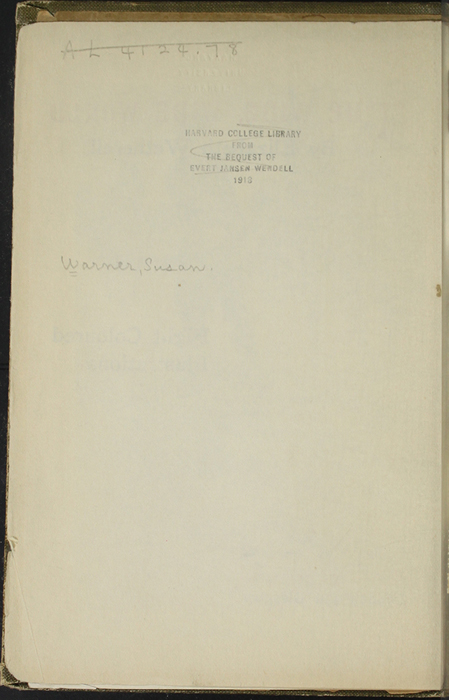 Verso of First Front Flyleaf of [1907] Collins' Clear-Type Press Reprint