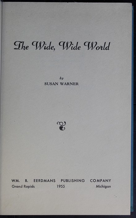 Title Page to the 1955 WM. B. Eerdmans Publishing Co. Reprint
