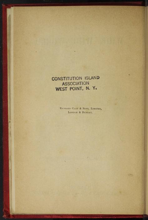 Colophon for [1893] James Nisbet & Co. Reprint, Version 2