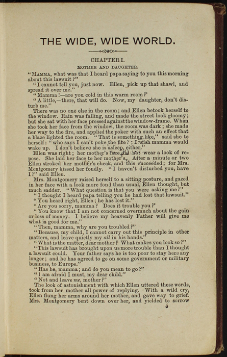 First Page of Text in the [1878] Milner & Co. Reprint, Version 1