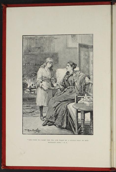 Frontispiece to the [1896] Walter Scott, Ltd. Reprint Depicting Ellen Serving Mamma Tea in the Parlour