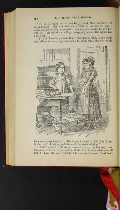 """Illustration on Page 358 of the 1903 J.B. Lippincott Co. """"New Edition"""" Reprint Depicting Ellen and Nancy"""