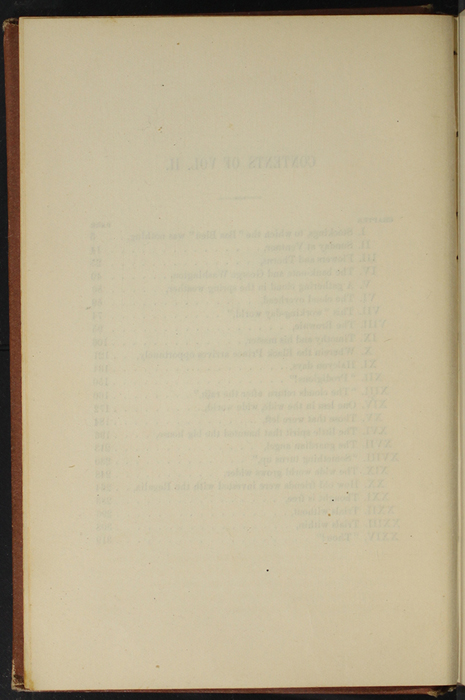 "Verso of Table of Contents of Volume 2 of the 1891 J. B. Lippincott Co. ""New Edition"" Reprint"