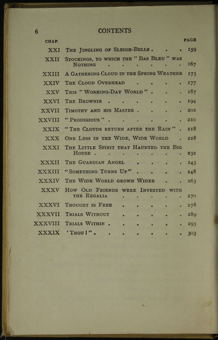 Page 2 of Table of Contents of the [1926] Ward, Lock, & Co., Ltd., Reprint